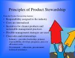 principles of product stewardship