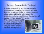 product stewardship defined