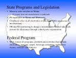 state programs and legislation