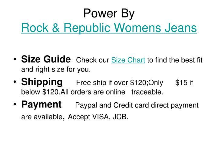 Women Rock And Republic Jeans Size Chart On Poshmark