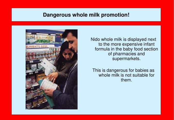 Dangerous whole milk promotion!