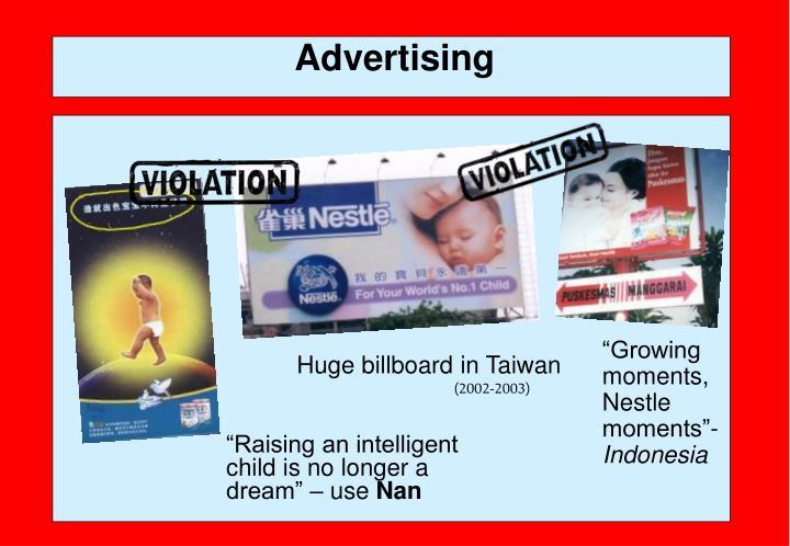 Huge billboard in Taiwan