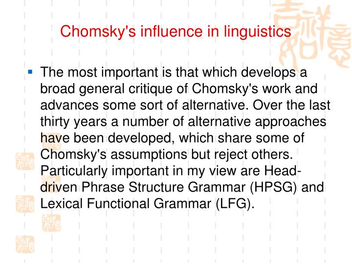 Chomsky's influence in linguistics