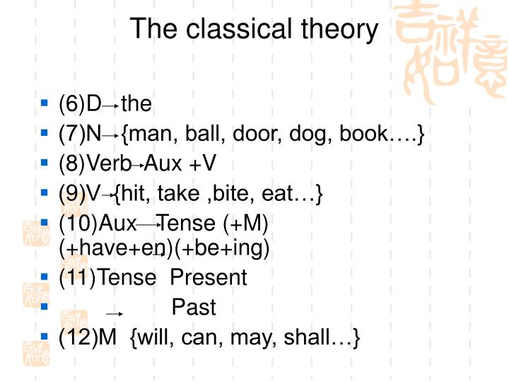 The classical theory