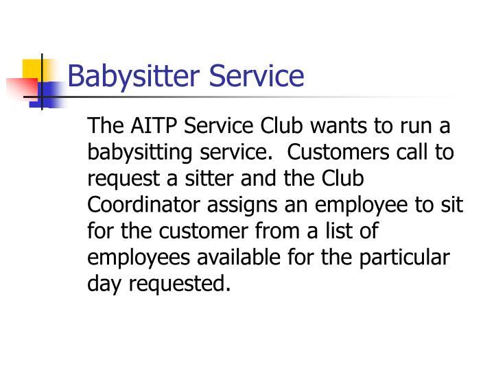 Babysitter service