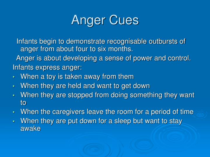 Anger Cues