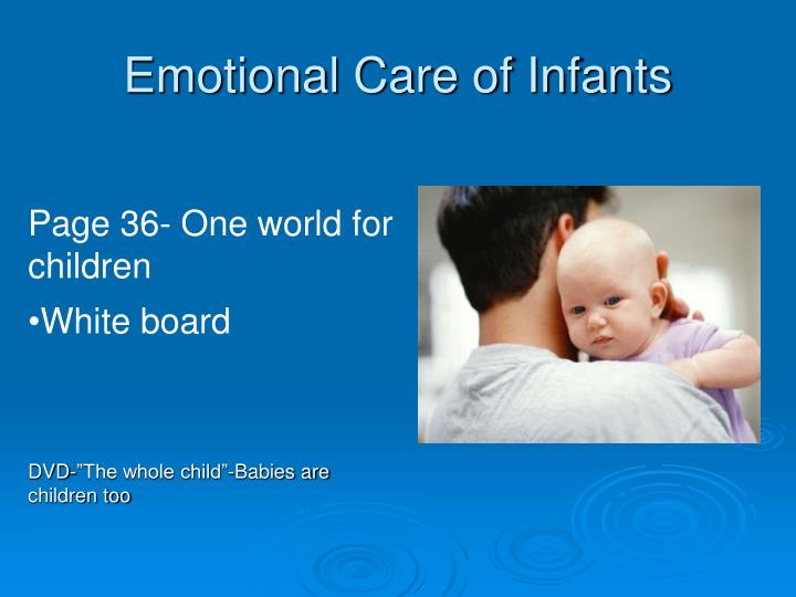 Emotional Care of Infants