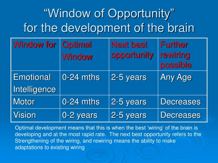"""Window of Opportunity"""