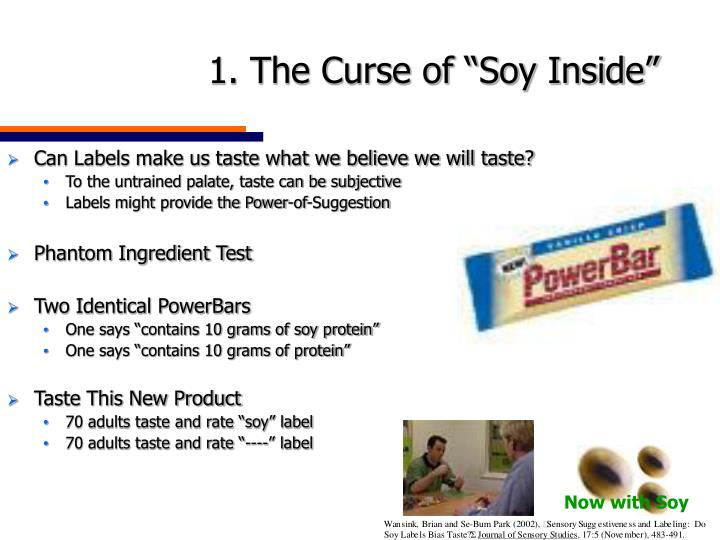 """1. The Curse of """"Soy Inside"""""""