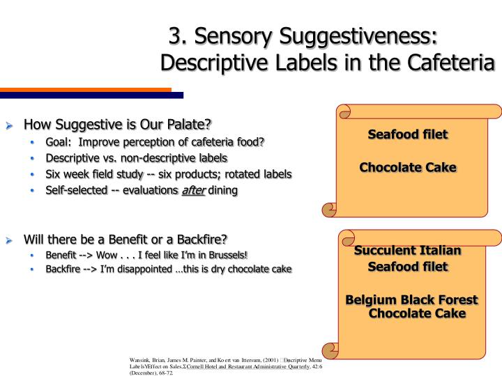 How Suggestive is Our Palate?
