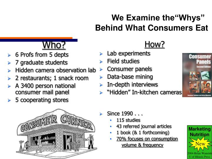 We examine the whys behind what consumers eat