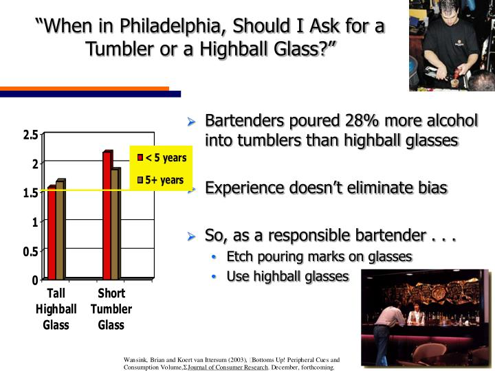 """""""When in Philadelphia, Should I Ask for a Tumbler or a Highball Glass?"""""""