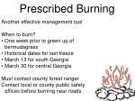 prescribed burning