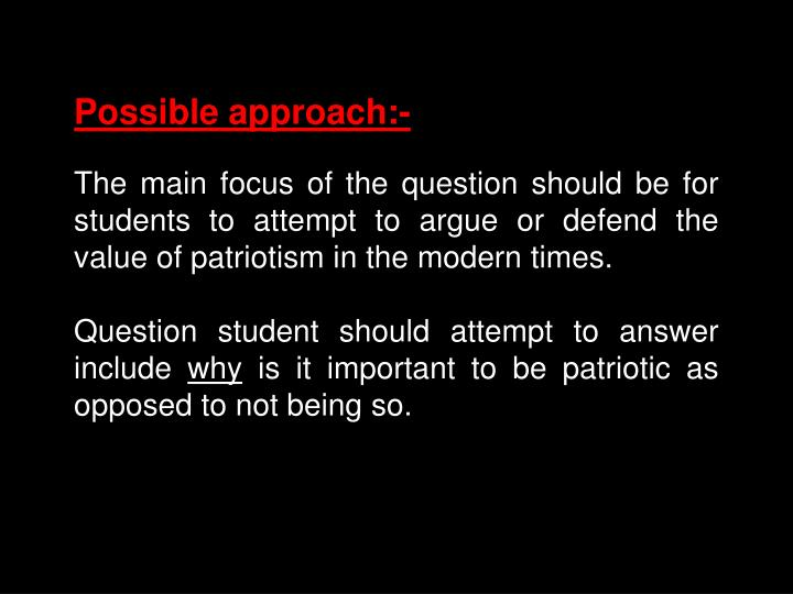 Possible approach:-