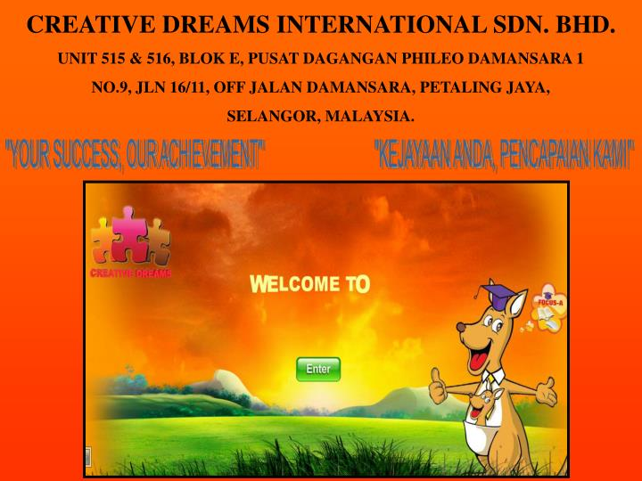 CREATIVE DREAMS INTERNATIONAL SDN. BHD.