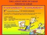 the latest news in sabah terkini di sabah