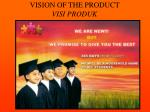 vision of the product visi produk