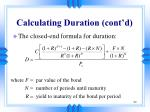 calculating duration cont d