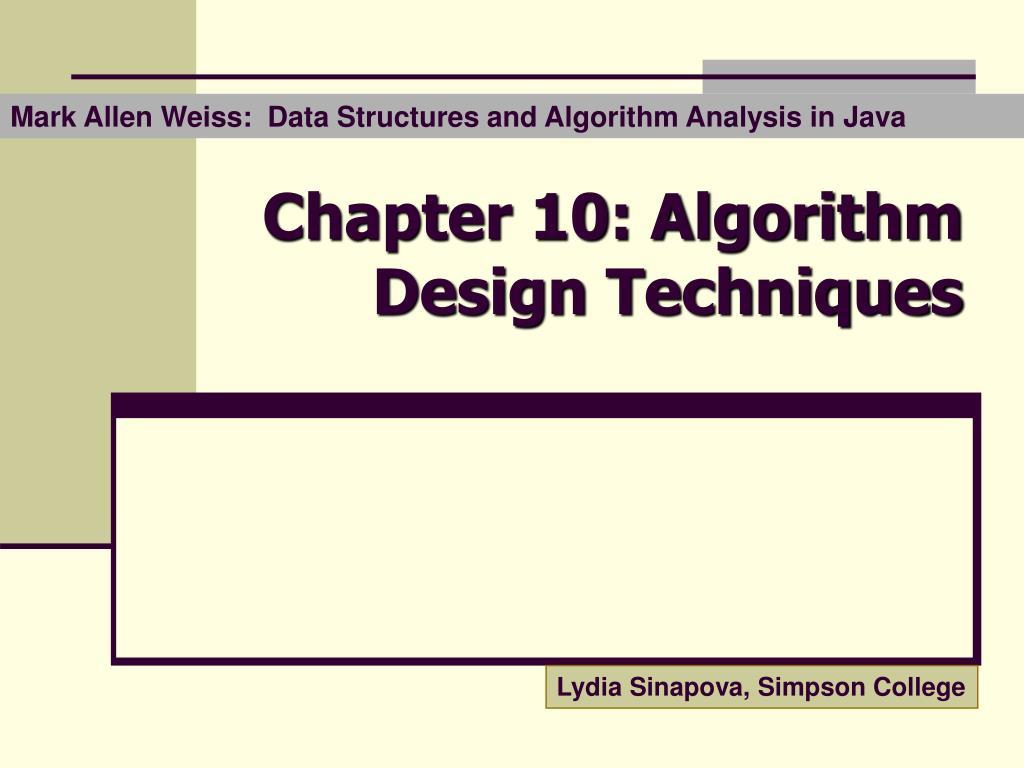 chapter 10 algorithm design techniques n.