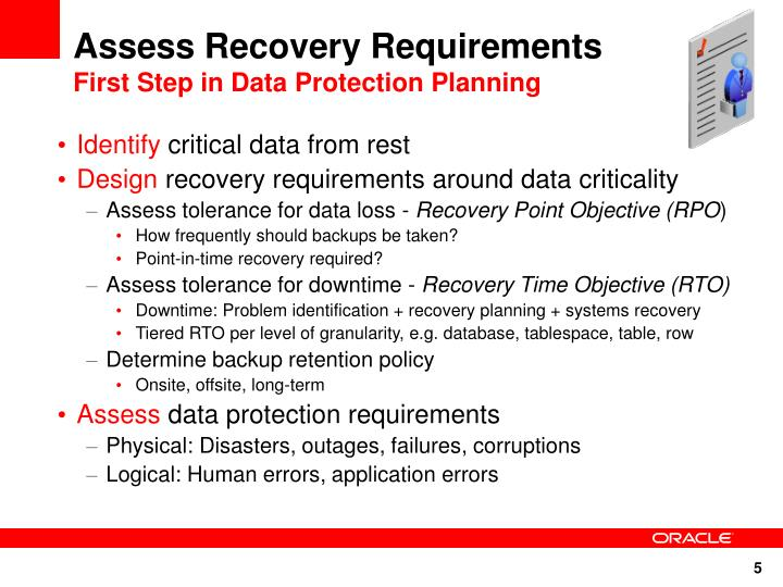 Assess Recovery Requirements