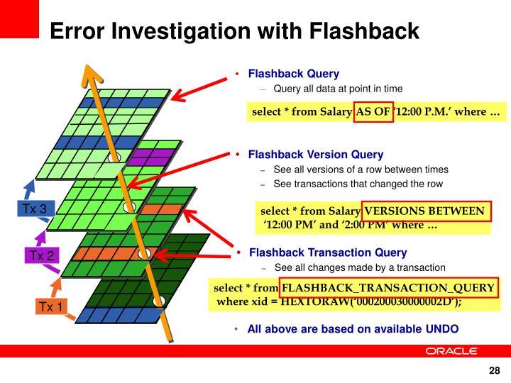 Error Investigation with Flashback