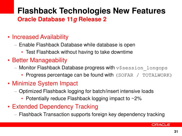 Flashback Technologies New Features