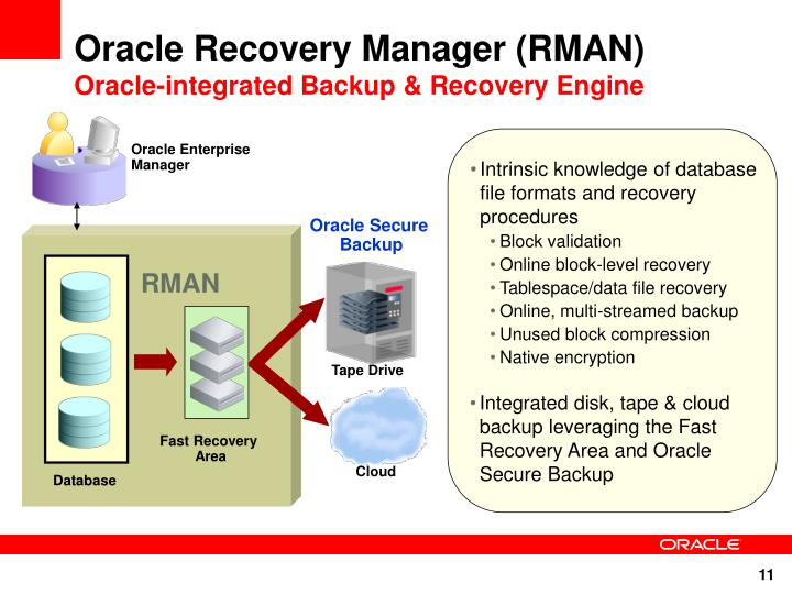 Oracle Recovery Manager (RMAN)
