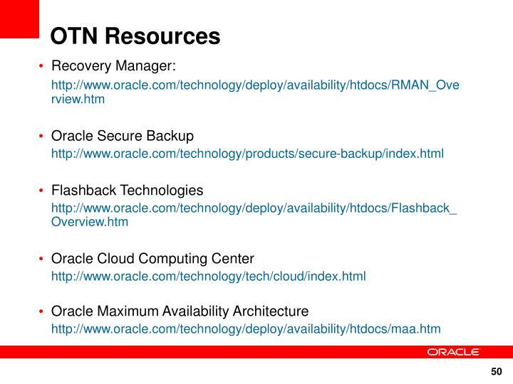 OTN Resources