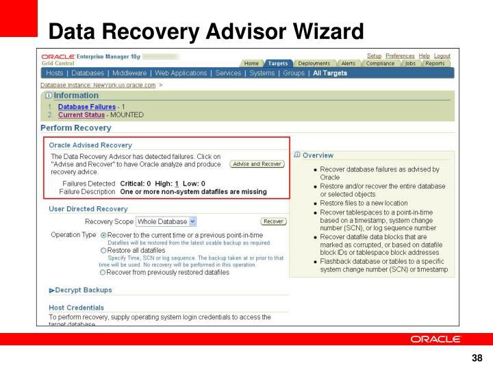 Data Recovery Advisor Wizard