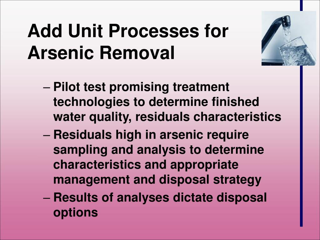 PPT - The Arsenic Rule: Water Treatment Plant Residuals PowerPoint