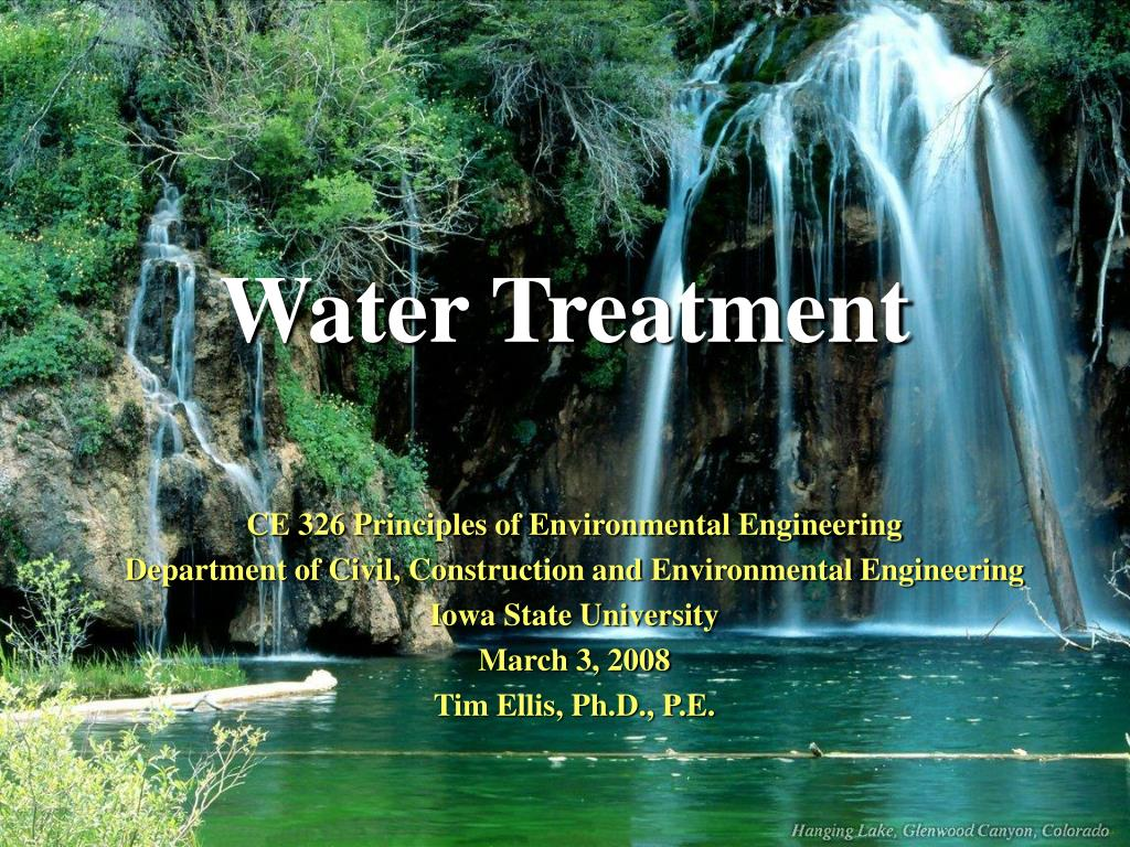 Ppt Water Treatment Powerpoint Presentation Id1250407 Piping Instrumentation Diagram Plant