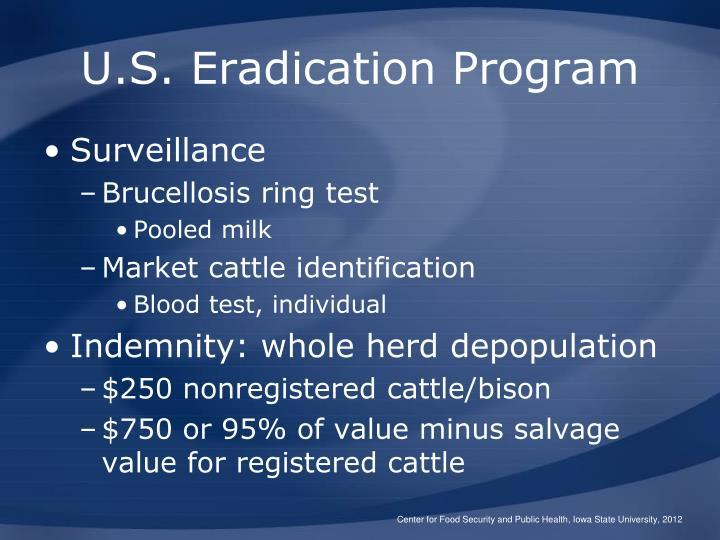 U.S. Eradication Program