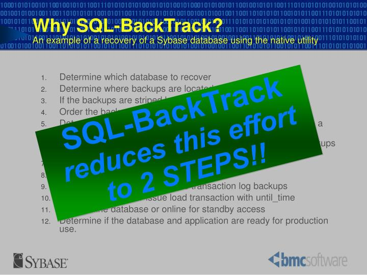 Determine which database to recover