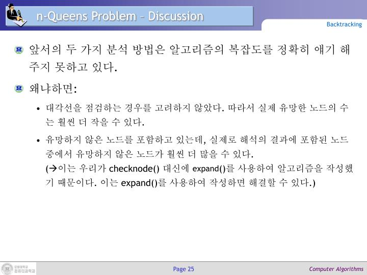 n-Queens Problem – Discussion