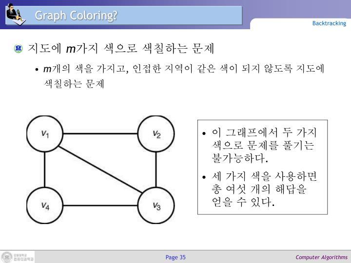 Graph Coloring?