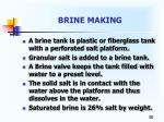 brine making