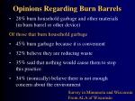 opinions regarding burn barrels