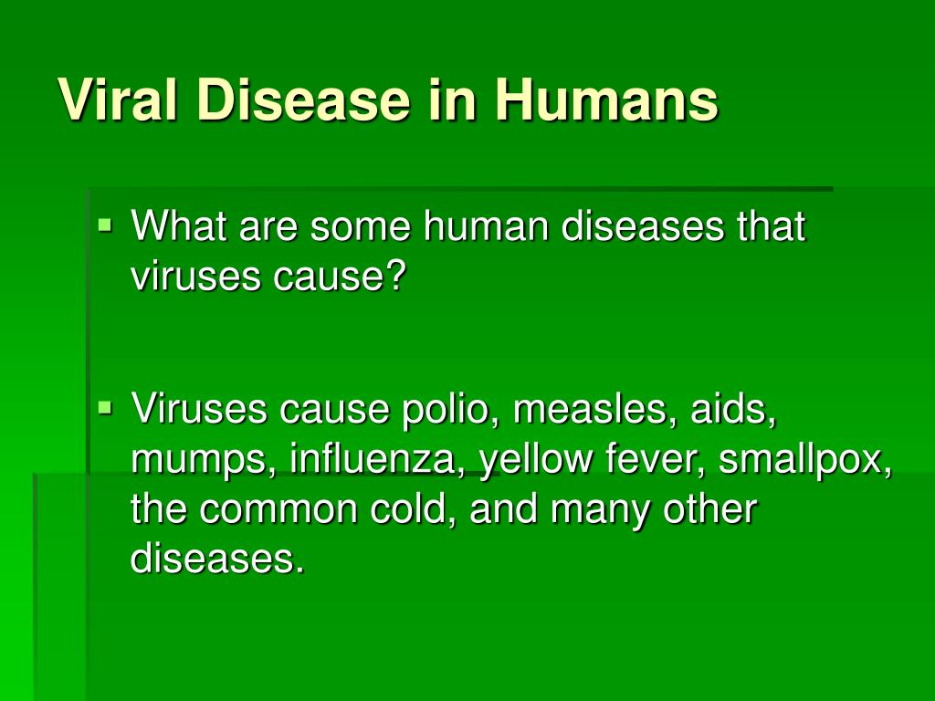 PPT - Diseases Caused by Bacteria and Viruses PowerPoint