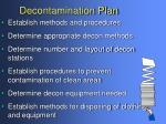 decontamination plan