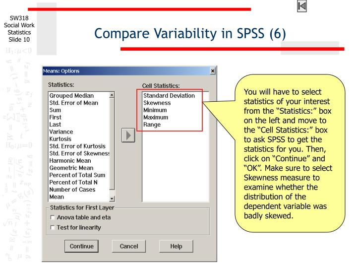 Compare Variability in SPSS (6)