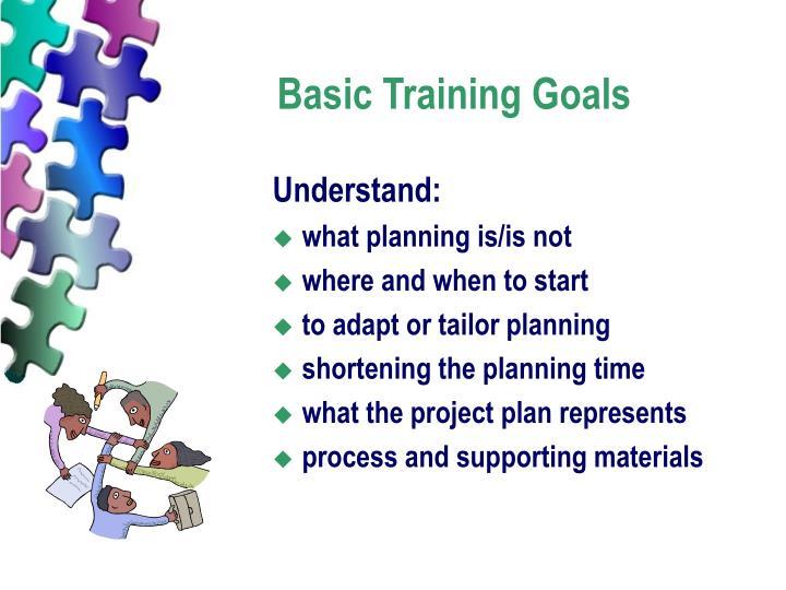 Basic Training Goals