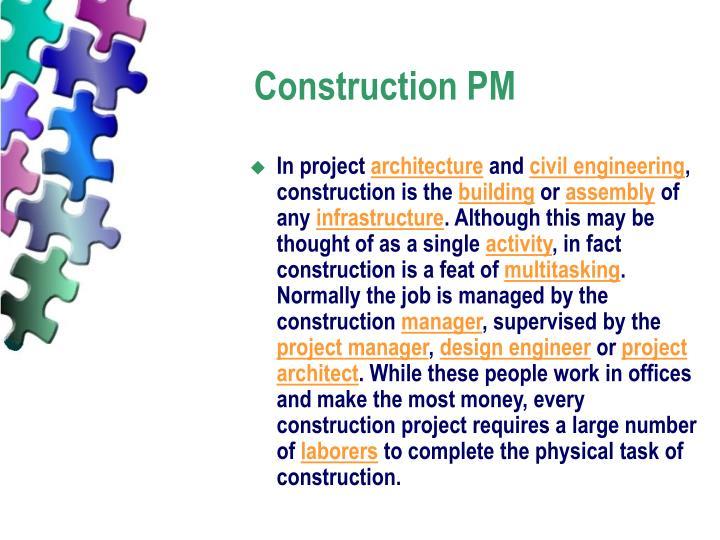 Construction PM
