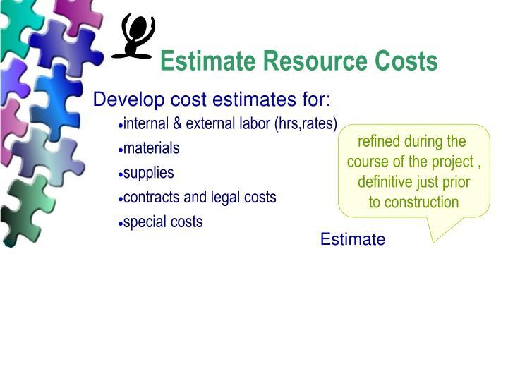 Estimate Resource Costs