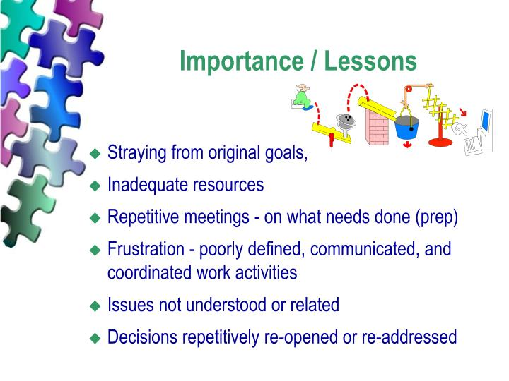 Importance / Lessons