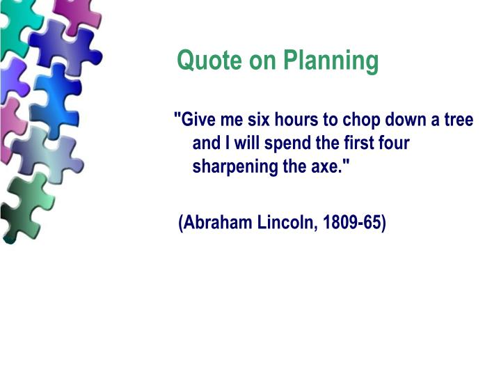 Quote on Planning