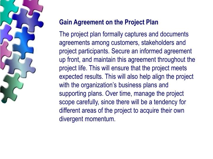 Gain Agreement on the Project Plan