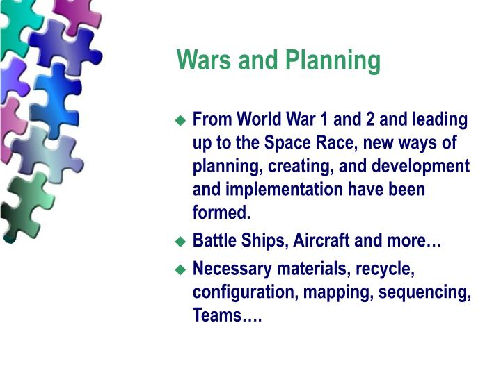 Wars and Planning