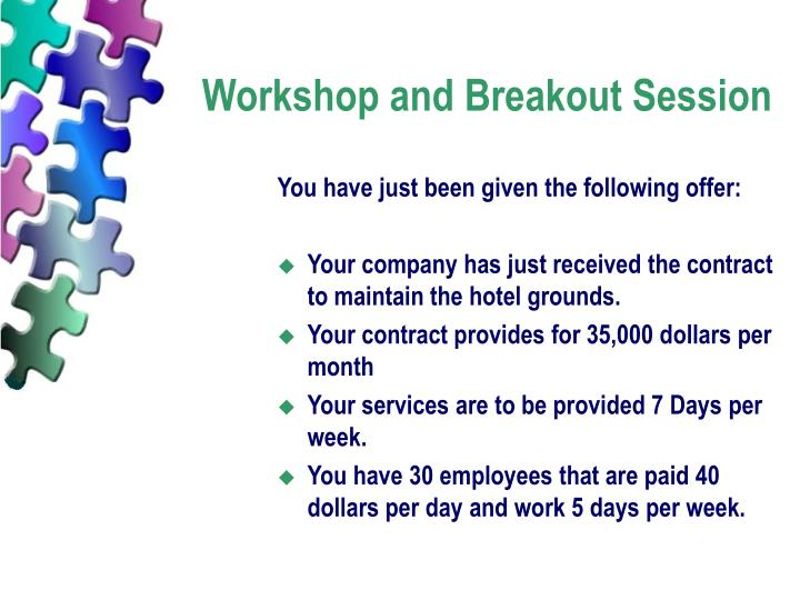 Workshop and Breakout Session