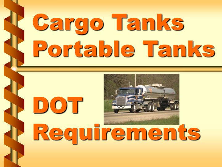 cargo tanks portable tanks dot requirements n.