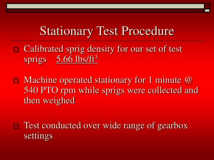 Stationary Test Procedure